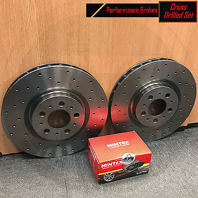 For Land Rover Discovery 3 Range Rover Sport Front Drilled Brake Discs Pads Set