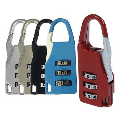 Travel 3Digit Code Safe Combination Luggage Lock Padlock Suitcase M6A6