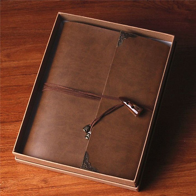 Leather Retro Photo Album Anniversary Scrapbook DIY Vintage Family Wedding Album