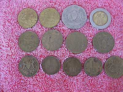 13 Large Coins from Kenya