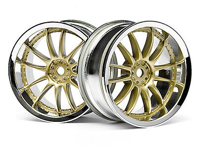 HPI Work Xsa 02c Wheel 26mm Chrome/gold (3mm Offset) #3297