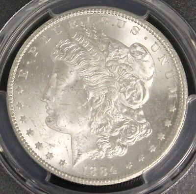 1884 CC PCGS MS 64 Brilliant Frosted Morgan Silver Dollar
