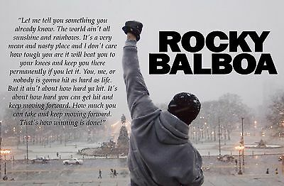 New Rocky Balboa Quote Wall Poster or Canvas