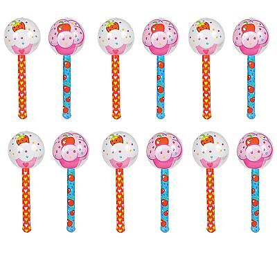 (12) 36 Inch Cupcake Lollipop Inflatables Party Favors Photo Ops