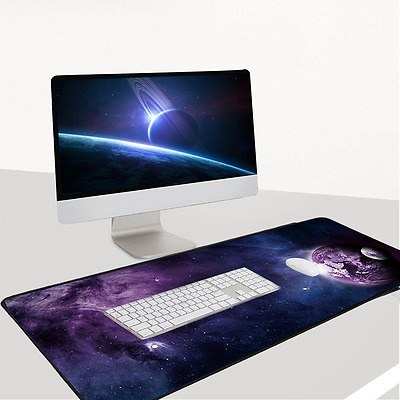 Professional Large Mouse Pad XXL Computer Laptop PC Gaming Mat 90x40 Sky Planet