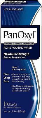 PanOxyl Foaming Acne Wash Maximum Strength 5.5 oz (Pack of 4)