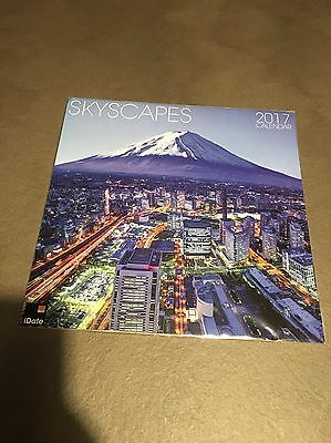 Skyscapes 2017 Calendar & FREE Organiser Included Inside Brand New Unopened