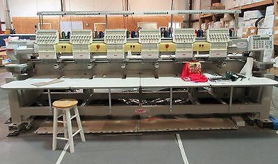 SWF ~ Model # C-UK1506-45 ~ 6 Head, 15 needle Embroidery Machine