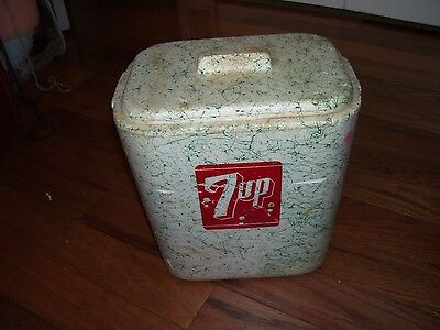 One Vintage Styrofoam 7UP  Container