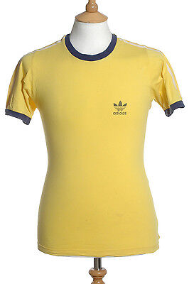 Vintage 1980's Adidas Yellow T Shirt S