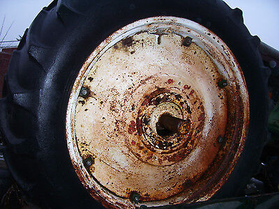 """VINTAGE OLIVER 88  TRACTOR -15.5 x 38 """" REAR TIRE & WHEEL"""