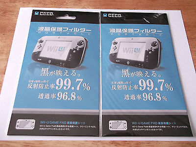 Nintendo Wii U gamepad screen protector (2 pack)! Ships from Canada! New