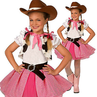 Girls Cowgirl Cutie Costume Kids Western Cow Girl Fancy Dress Cowboy Sweetie