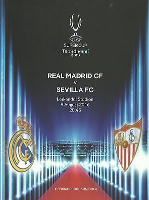 Real Madrid v Sevilla - UEFA Super Cup Final - 09 August 2016 - IN STOCK NOW.