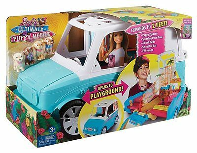 Barbie Ultimate Puppy Mobile Vehicle W/ 4 Pups  *new*