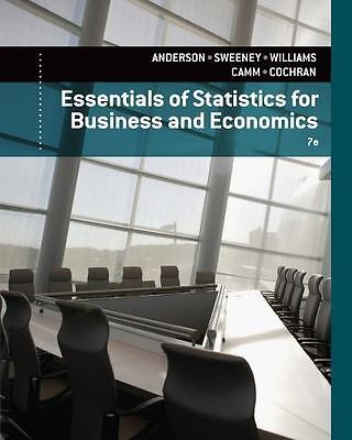 Essentials of Statistics for Business and Economics, 7th edition (NEW)