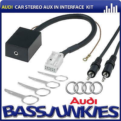 Audi A3 8P 2003-13 Car Stereo Aux iPhone iPod Interface Adaptor & Removal Keys