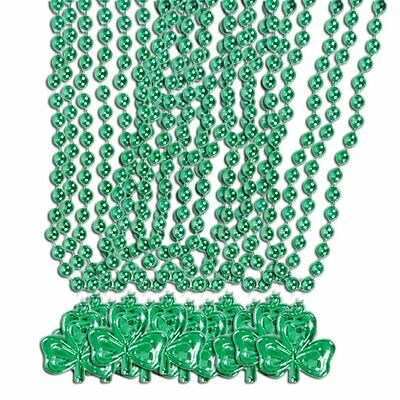 St. Patricks Day Beads - Shamrock Necklace 1