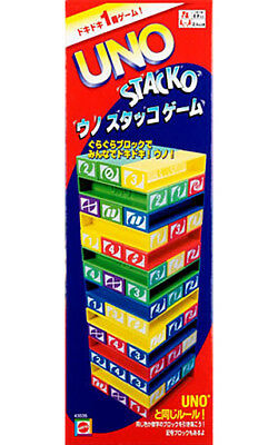 Uno STACKO The Standing Block Game With  an UNO Twist From Japan  F/S