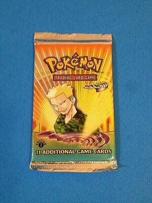 ( GYM HEROES ) - 1st Edition - 11 cards Booster Pack - Sealed New! - Pokemon