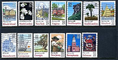 #2336-2348 US Ratification of the Constitution Bicentennial Set of 13, Used Set