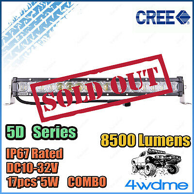 18inch 85W SLIM CREE LED Light Bar Work COMBO Beam High Intensity 5D Series