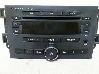 Holden Barina Radio/cd Player W/ Aux, Tk, 08/08-12/12