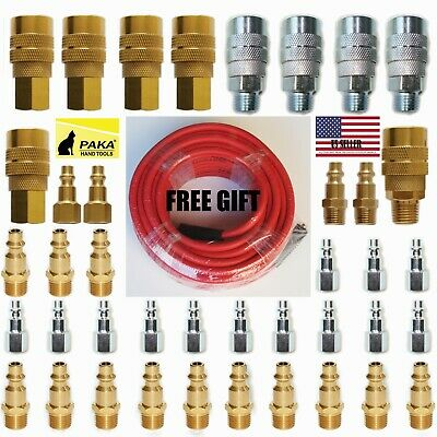 40pc Heavy Duty Quick Coupler Set Air Hose Connector Fittings 1/4 NPT Tools Plug