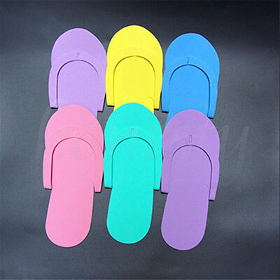 2~12Pairs Disposable Flip Flops Foam Pedicure Tanning Spa Slippers Random Color