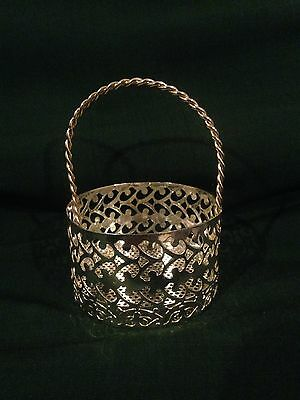 Vintage Silver Plated Filigree Basket with Handle GREAT QUALITY Ornate Cut Work