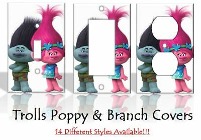 Trolls Branch Princess Poppy Light Switch Covers Disney Home Decor Outlet