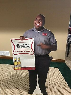 Miller High Life- High Life Man- Wendell Middlebrooks Life Size Stand Up