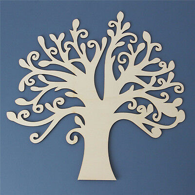 Tree Shaped Wooden Craft Blank  Wedding Guestbook Family Tree Craft Home Tackle