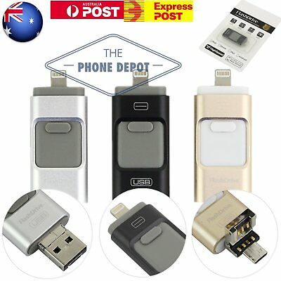 iPhone USB Flash Drive OTG Disk Memory Storage Stick iOS Pad Android iFlash 128G