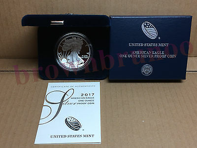 2017 W American Eagle One Ounce SILVER PROOF Coin West Point 1 Oz Box & COA 17EA