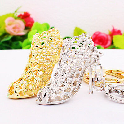 1PC Women Hollow Out High Heel Shoes Keychain Keyring Bag Accessories