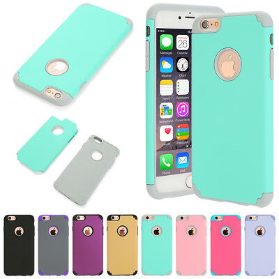 Shockproof Hybrid Rugged Rubber Protective Hard Case Cover For iPhone 7 6S Plus