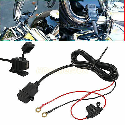 Waterproof Motorbike Motorcycle USB Charger Mobile Power Socket Adapter 12V/24V