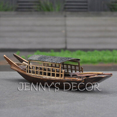 "Handmade Handicrafts China Tourist Sightseeing Boat Replica 9"" Wooden Ship Model"