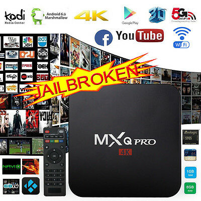 2017 4K PRO Fully Loaded Quad Core Android 6.0 Smart TV Box WIFI Media Player UK
