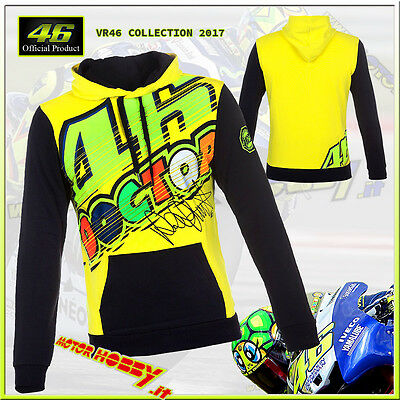 Felpa In Cotone Vr46 Originale 46 The Doctor 2017 Valentino Rossi Taglia M