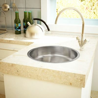 New High Quality Round Sink Stainless Steel 43cm With Drain Kitchen Sink