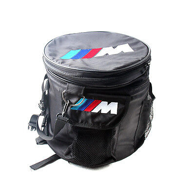 Boot Trunk Round Organizer Multi Storage Tool Box Bag Case For BMW M Motorsport