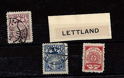 LETTLAND Latvia Antique STAMPS (3)