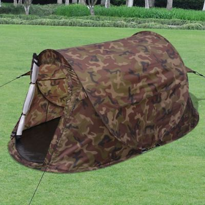 2-Person Pop-up Camping Hiking Tent Waterproof Camouflage Outdoor Family Trip