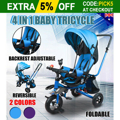4IN1 Baby Kids Toddler Tricycle Bike Ride-On Trike Toys Stroller Stroller Prams
