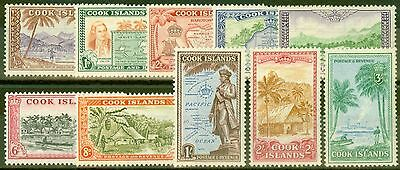 Cook Islands 1949 set of 10 SG150-159 Fine Very Lightly Mtd Mint