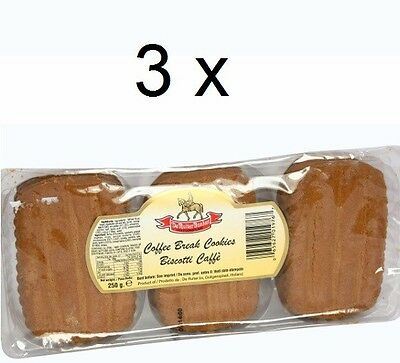 3 x HOLLAND Coffee Break Cookies 250g Each