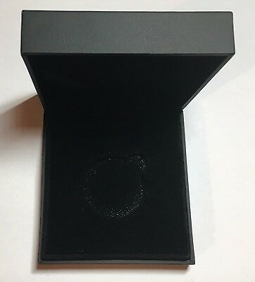 Black Presentation Box for 36mm diameter Coin/Medallion [3w]