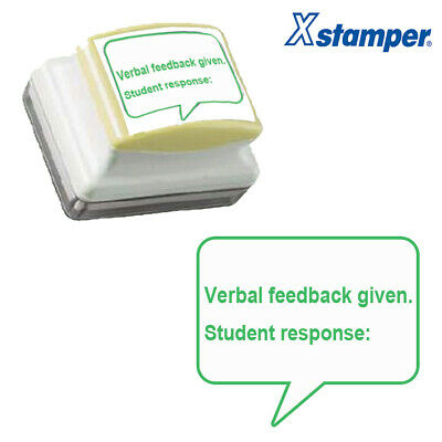 Verbal feedback given. Student response: Self-inking Teacher Stamp. Large - 31x2